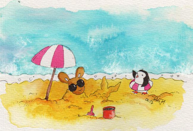 365-Tage-Doodle-Challenge - Stichwort: Tag am Meer