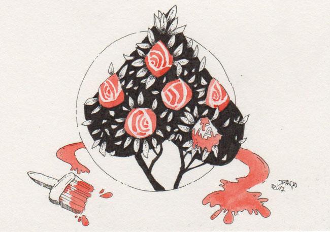 365-Tage-Doodle-Challenge - Stichwort: Rosen