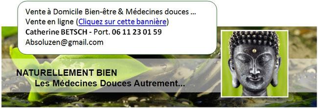 Vente produits bien-être et médecine douce, absolu zen, Catherine TERRIER, Cournon d'Auvergne, Puy de Dôme