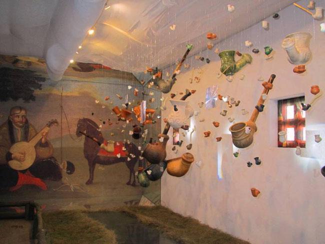 Знахідки з Кам'янської Січі в експозиція «Козак Мамай і козацька люлька»  Національного заповідника «Хортиця»