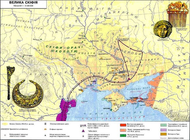 Скіфсько-перська війна (карта з книги Черненко Є. В.)