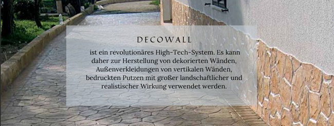 Decowall, Wand dekorieren
