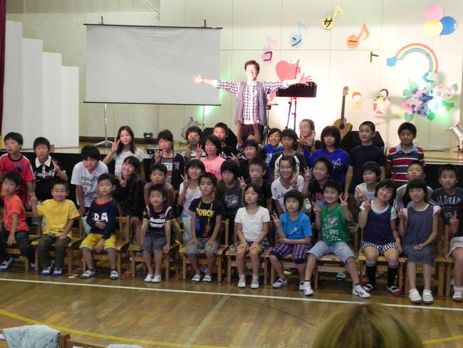 「やさしくなろうコンサート」四万十町川口小学校
