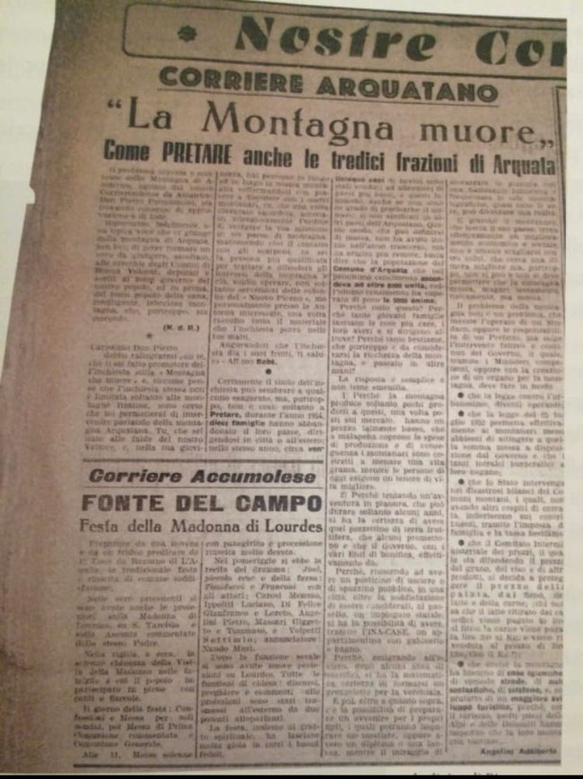 Tratto da: Il Nuovo Piceno, 1955.