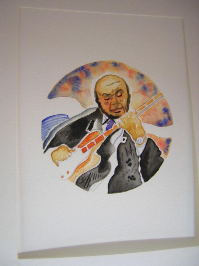 """Coco-Schumann wird im Mai 2014 neunzig Jahre alt. Der RBB berichtet. Und auch über eine neue Biografie: Die Graphic Novel """"I got Rhythm"""" die im be.bra verlag erschien. © niels-schroeder"""
