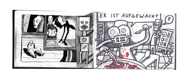 Die Skizzebücher sind spontanes Ausdrucksmittel eines jeden Künstlers. Hier sind einige Beispiele des Berliner Designers und Zeichners Niels-Schröder anzuschauen. Bei Interesse: www.niels-schröder.de