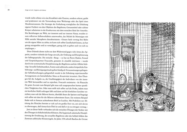 Für die Züricher Vontobel Stiftung und ihre Schriftenreihe zeichnete Niels Schröder diese Zeichnungen zu einem Text des Kulturwissenschaftlers Prof. Thomas Macho, HU Berlin.