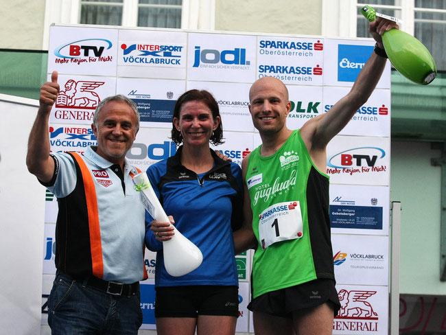Die neuen Champions des 4-Städte-Prand-Prixes: Martina Bruneder-Winter und Stefan Aichinger (re.)