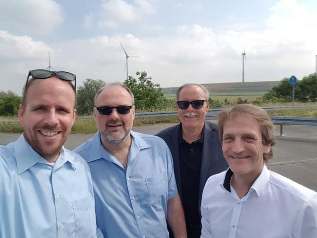 v. l.: Jörn Freynick MdL, Rainer Mull, Rudolf Kretz-Manteuffel, Thomas Boos