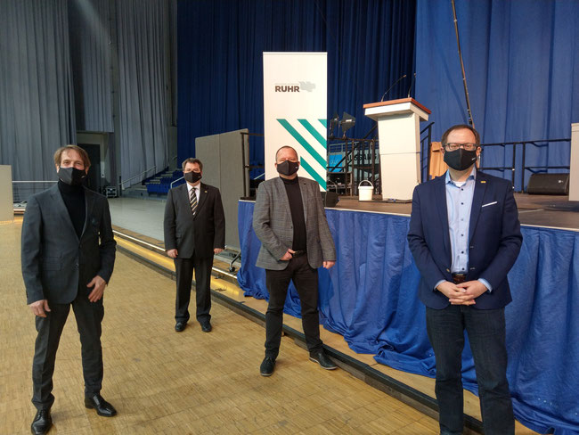 v. l.: Thomas Boos, Andreas Mersch, Wilhelm Bies, Felix Haltt