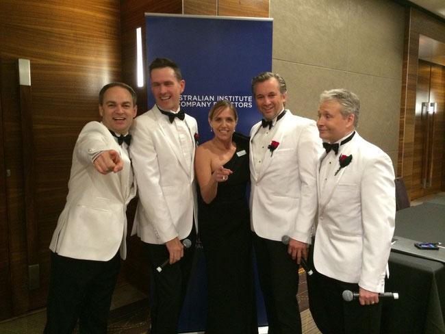 Darryl Lovegrove, Scott Irwin, Julie Anderson, Ian Stenlake and Derek Metzger