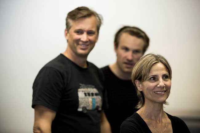 Ian, Gary Clementson and Zoe Carides