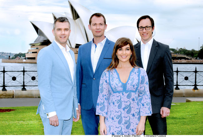 Philipp Lowe, Mike McLeish, Pippa Grandison and Glaston toft (c) photographer: Branco Gaica