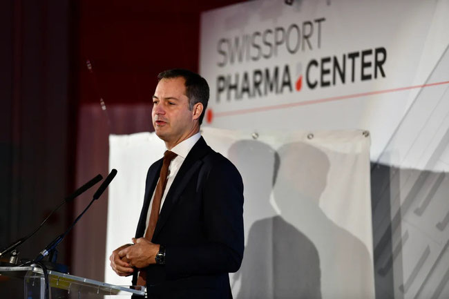 Alexander De Croo, Deputy Prime Minister and Minister of Finance and Development Cooperation - Image courtesy of Swissport International