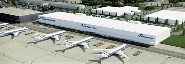 ABC will get dedicated warehousing facilities at Liege's 'Cargo Nord' area – artist impression