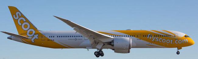 Scoot operated Boeing 787s will be seen in Berlin soon  -  company courtesy