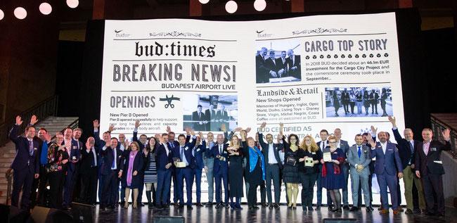 Award winners enjoying BUD-held Grand Gala