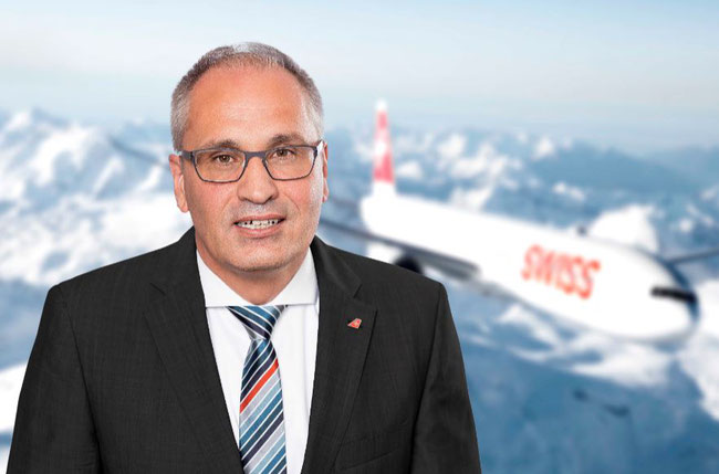 Swiss WorldCargo manager Jochen Leibfritz confirms the revival of cargo flown by his carrier on pan-European routes  -  company courtesy