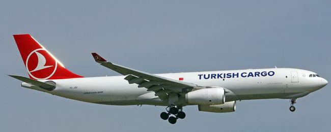 Pictured here is one out of nine A330 freighters operated by TK Cargo