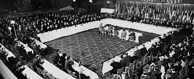 Diplomats from 54 world powers met in Chicago in 1944 to draft the Chicago Convention on International Civil Aviation, establishing ICAO - image courtesy of www.icao.int