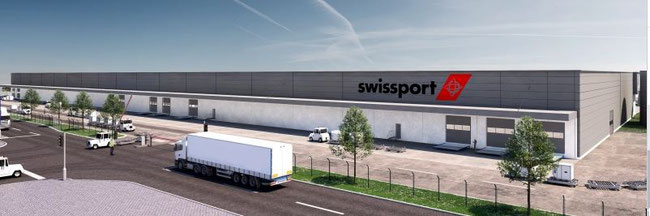 Image of future Swissport cargo terminal at FRA Airport  -  company courtesy