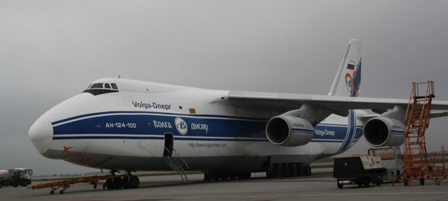 Volga-Dnepr operated AN-124 won't be seen any longer at LEJ on behalf of NATO and EU  -  photo: hs
