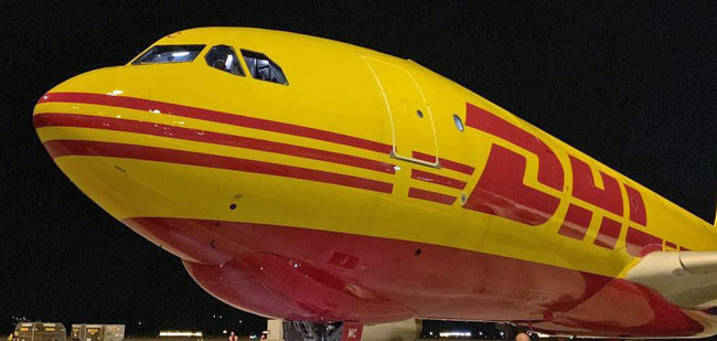 "DHL Express A330-200F due for ""perfect flight"". Image: DHL"