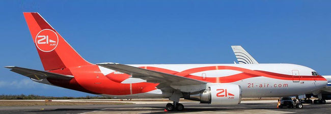 Cargojet leased B767-200 freighter from U.S. operator 21 Air  -  company courtesy