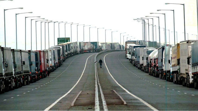 Coming soon? Trucks stuck in massive traffic jams at Calais and Dover