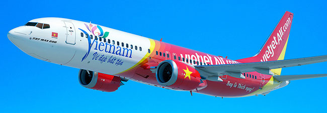 Illustration of VietJetAir B737 MAX 8