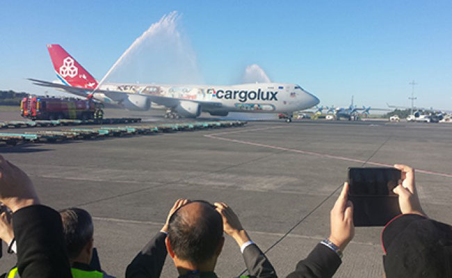 Cargolux, serving Muscat since 2015,  is one of the few all-cargo carriers landing there.