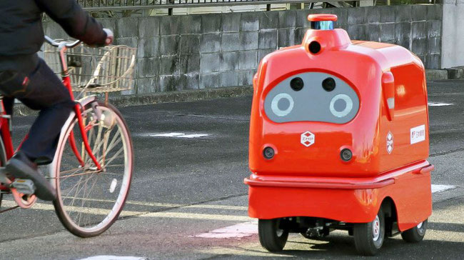 ZMP delivery robot joins road tests in Japan