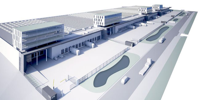Image of the new airside logistics platform at Brucargo West  -  credit: BRU