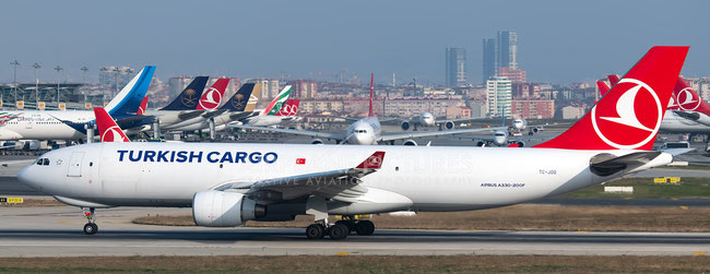 TK Cargo tonnage is growing despite the current market weakness  - shown here is one of their A330 freighters