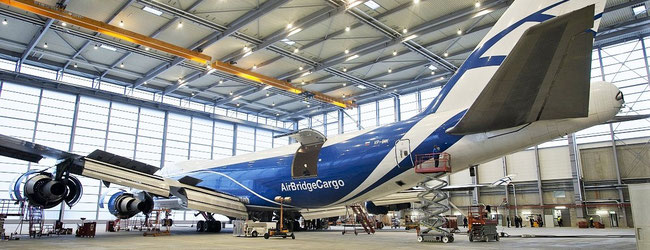 Was it the last B747F being overhauled in the AMTES hangar? Image: CFG / hs