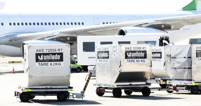 ULD readers make the supply chain fully transparent, confirm Unilode and Menzies Aviation  -  image courtesy of Menzies Aviation