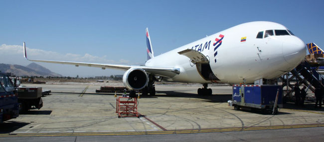 …while LATAM Cargo relies on Boeing 767 freighters  -  photo: hs