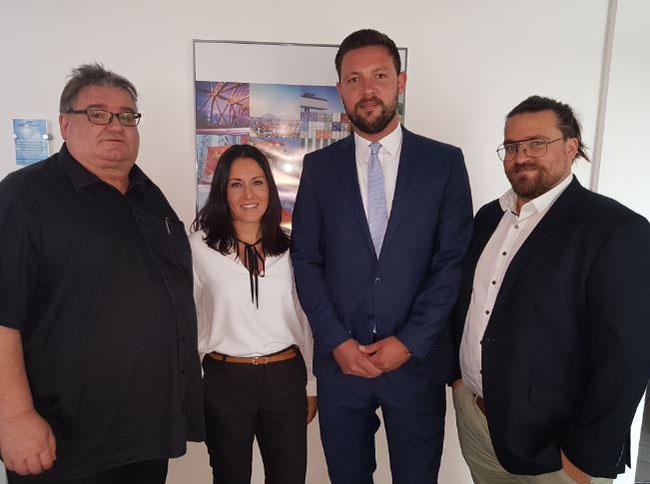 EMO Trans managers (l to r): Bernhard Stock, Carina Pilz, Niklas Bergmann, Bastian Trapp  -  photo: hs