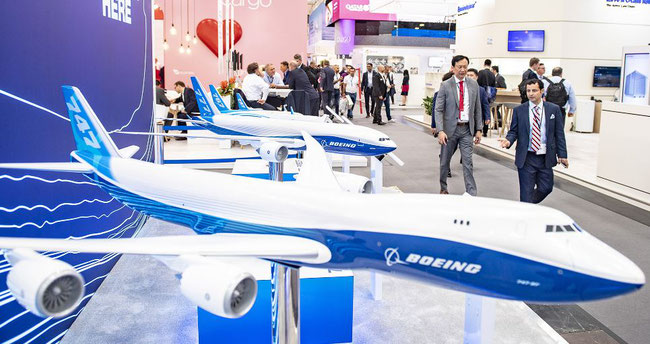 Boeing ran a large stand at ACE; Airbus remained absent  -  courtesy: Messe Muenchen