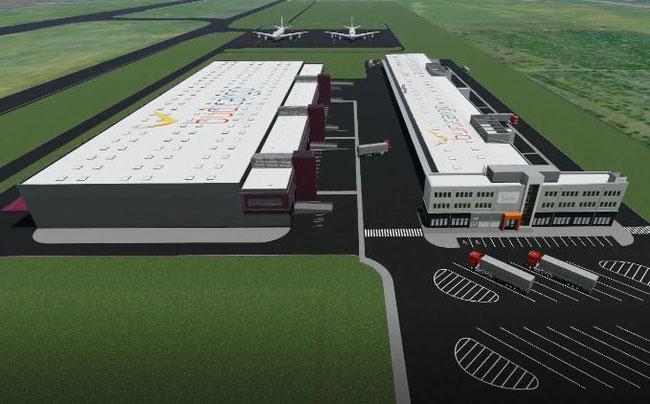 Animation of the future Cargo Center – courtesy BUD