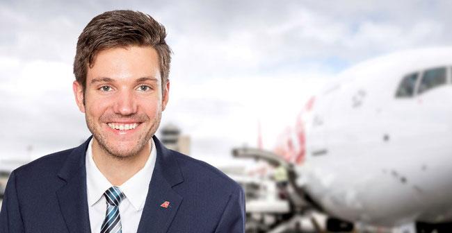 Fabian Mettler of Swiss WorldCargo  -  company courtesy