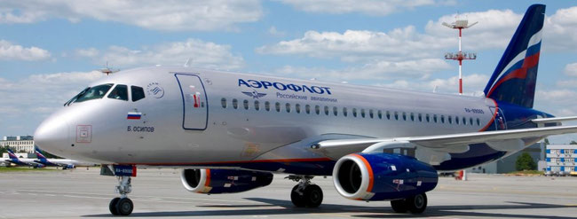 On medium- and short-haul routes Aeroflot will rely on Russia-manufactured Sukhoi Superjet 100 aircraft