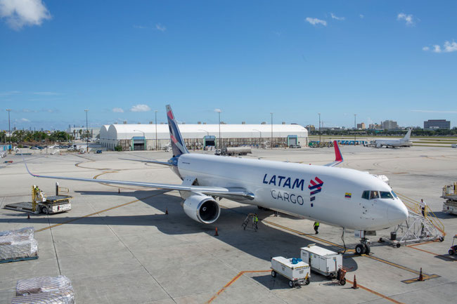 An Ecuador-based B767F of LATAM Cargo is part of the Peruvian mission – image courtesy of LATAM Cargo