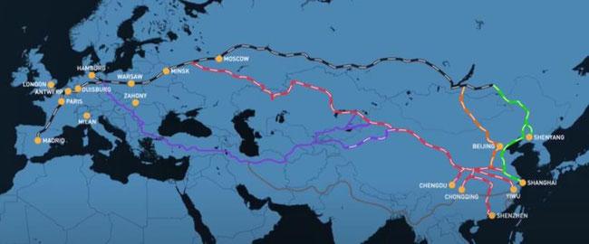 Metrans operated trans Eurasian network  -  courtesy Metrans