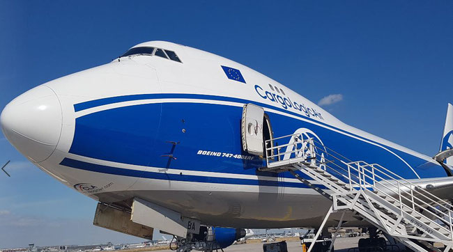 CargoLogic Air operated B747-400ERFs have been grounded  -  photo: CFG / hs