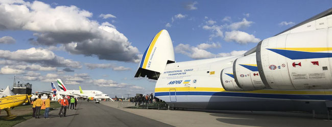 "Antonov's giant AN-225 ""Mriya"", photographed during Berlin's Air Show ILA last week, might cover some of the transportation needs of NATO and EU states after Volga-Dnepr's forthcoming SALIS exit on 31st December (CargoForwarder Global reported)"