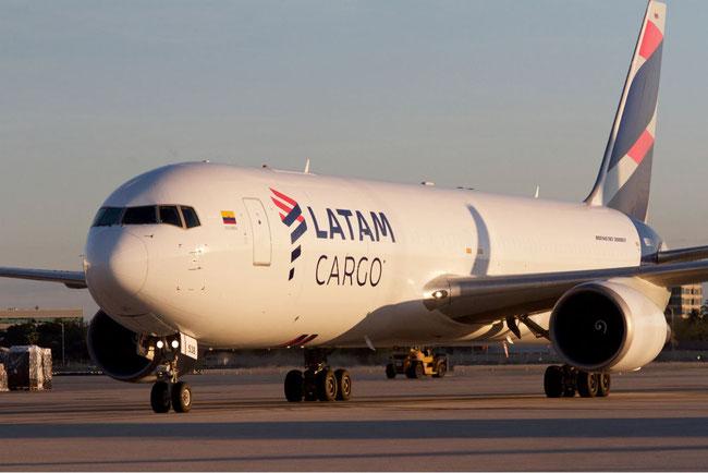 LATAM Cargo operated Boeing 767 on way to Bogotá  - image courtesy LATAM Cargo
