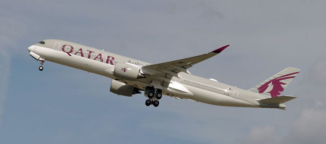 On of Qatar Airways' 49 A350 - Image: AFP