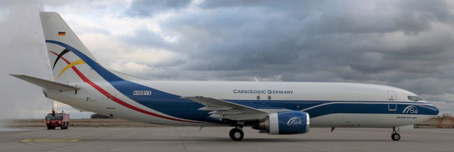 Cargologic Germany received its first B37F, hired pilots and ground personnel but wasn't admitted an AOC yet  -  photo: CLG