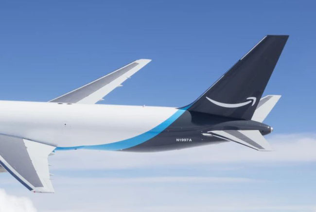 The Amazon livery will soon be seen more often in the sky  -  company courtesy.